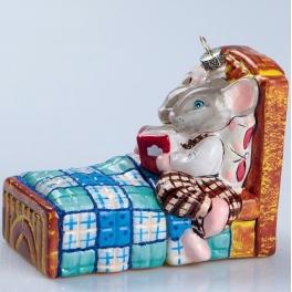Стеклянная ёлочная игрушка «Сказка на ночь», Bombki, Польша
