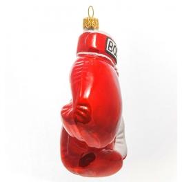 Стеклянная елочная игрушка «Боксёрские перчатки», ручная работа, производство Польша