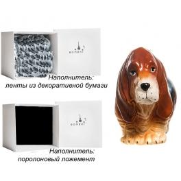 Елочная игрушка «Бассет-хаунд», Bombki, Польша, размер 10,5х7 см