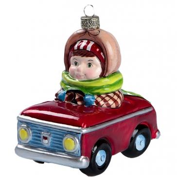 Елочная игрушка из стекла «Берегись автомобиля», Bombki, Польша