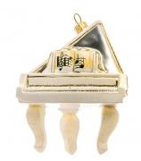 Елочная игрушка «Белый рояль»
