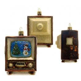 Елочная игрушка ручной работы «Голубой огонёк», 5,5х8 см, производство Польша