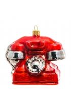 Елочная игрушка «Красный телефон»
