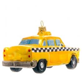 Елочная игрушка «Авто такси», Bombki, Польша, размер 12х6 см