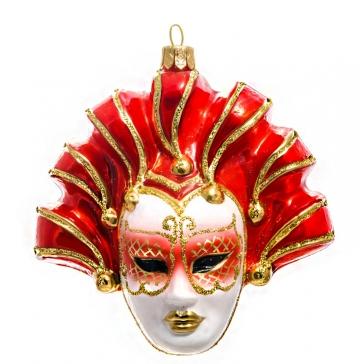 Елочная игрушка «Венецианская маска», материал: стекло, производство Польша