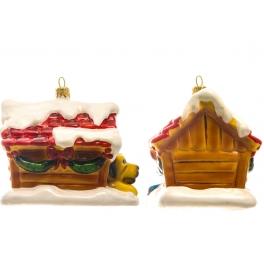 Стеклянная елочная игрушка «Пёс-сторож», ручная работа, производство Польша