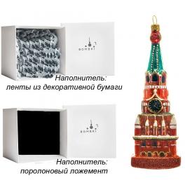 Стеклянная елочная игрушка «Спасская башня», 4,5х13,5 см, производство Польша