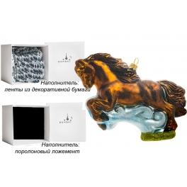 Стеклянная елочная игрушка «Быстрая лошадка», 16,5х11 см, производство Польша