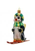 Елочная игрушка «Пингвин на лыжах»