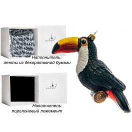 Елочная игрушка «Тукан», Bombki, Польша, размер 13,5х7 см