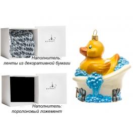 Елочная игрушка «Чистый утёнок», Bombki, Польша, размер 9х10,5 см