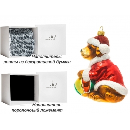 Елочная игрушка ручной работы «Лабрадор с мячиком», 9х11 см, производство Польша