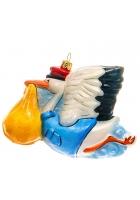 Елочная игрушка «Аист-почтальон»