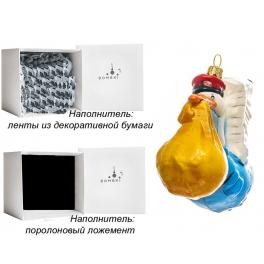 Елочная игрушка польского производства «Аист-почтальон», коллекция Bombki