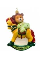 Елочная игрушка «Мишка на коне»