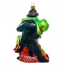 Стеклянная елочная игрушка ручной работы «Аргентинское танго», производство Bombki, Польша