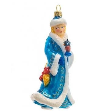 Елочная игрушка «Снегурочка», материал: стекло, производство Польша