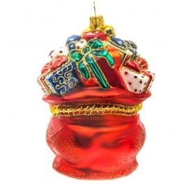 Елочная игрушка польского производства «Мешок с подарками», коллекция Bombki