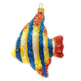 Елочная игрушка ручной работы «Тропическая рыбка», производство Польша