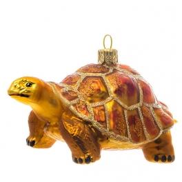 Елочная игрушка «Черепаха», материал: стекло, производство Польша