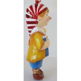 Стеклянная ёлочная игрушка Детский праздник «Буратино», Bombki, Польша