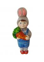 Ёлочная игрушка Детский праздник «Мальчик-зайчик»