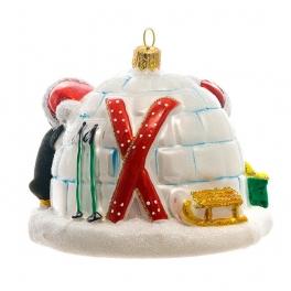Елочная игрушка ручной работы «Елка для пингвинов», 10х7 см, производство Польша