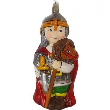Стеклянная ёлочная игрушка Детский праздник «Богатырь», Bombki, Польша