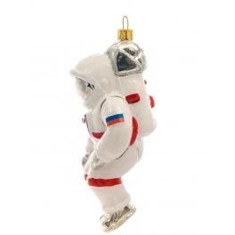 Стеклянная елочная игрушка ручной работы «Космонавт», производство Bombki, Польша