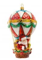 Елочная игрушка «Дед Мороз на воздушном шаре»