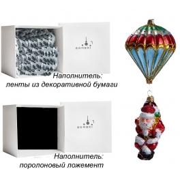 Елочная игрушка ручной работы «Санта-парашютист», 6,5х18 см, производство Польша