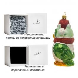 Стеклянная елочная игрушка «Совёнок», ручная работа, производство Польша