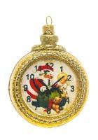 Елочная игрушка «Часы Деда Мороза»