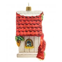 Елочная игрушка «Уютное гнёздышко», материал: стекло, производство Польша