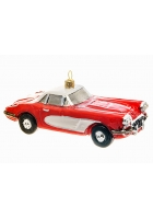 Елочная игрушка «Спортивный автомобиль красный»