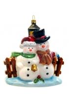Елочная игрушка «Снежная пара»