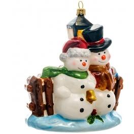 Елочная игрушка ручной работы «Снежная пара», Bombki, Польша