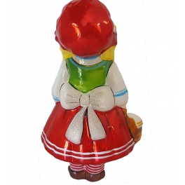 Ёлочная игрушка из стекла Детский праздник «Красная шапочка», Bombki, Польша