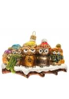 Елочная игрушка «Семья совушек»