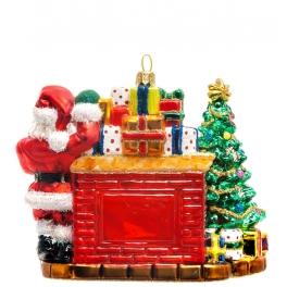 Ёлочная игрушка из стекла «Волшебство новогодней ночи», Bombki, Польша