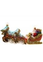 Елочная игрушка «Упряжка Деда Мороза»