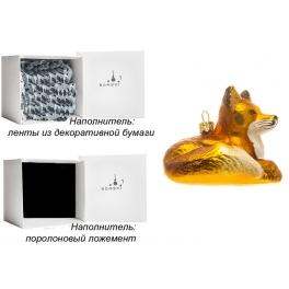Елочная игрушка ручной работы «Лиса», производство Польша