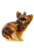 Елочная игрушка «Рыжая кошка»