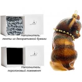Елочная игрушка «Рыжая кошка», материал: стекло, производство Польша