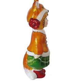 Стеклянная ёлочная игрушка Детский праздник «Лисичка», Bombki, Польша