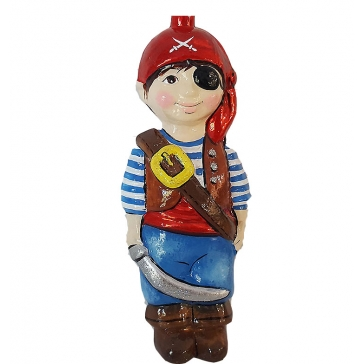 Стеклянная ёлочная игрушка Детский праздник «Мальчик в костюме пирата», Bombki, Польша