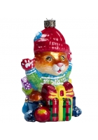 Елочная игрушка «Котик с подарками»