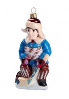 Елочная игрушка «Мальчик хоккеист»