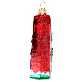 Елочная игрушка ручной работы «Красный арбуз», 7х8 см, производство Польша