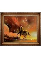 Картина «Конь на закате»